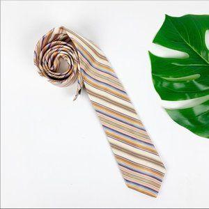 Ted Baker London Neck Tie Stripe Purple Gold